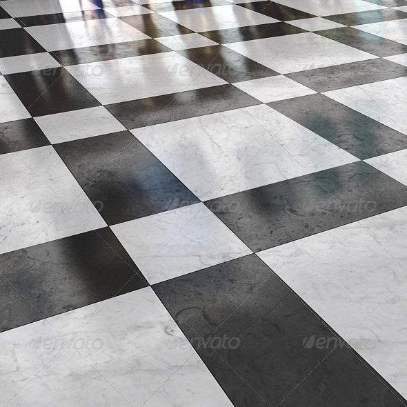 black_&_white_marble_stone_floor_01 - 3DOcean Item for Sale