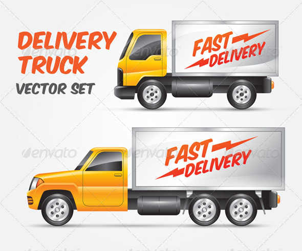 Vector Delivery Truck by miniaria | GraphicRiver