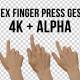 5x index finger press gestures - 4K + alpha - VideoHive Item for Sale