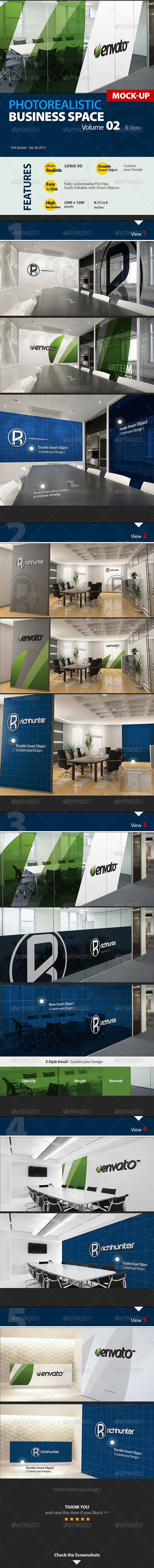 Mock-up Logo 3D_Business Space_Vol.2_Richhunter - Logo Product Mock-Ups