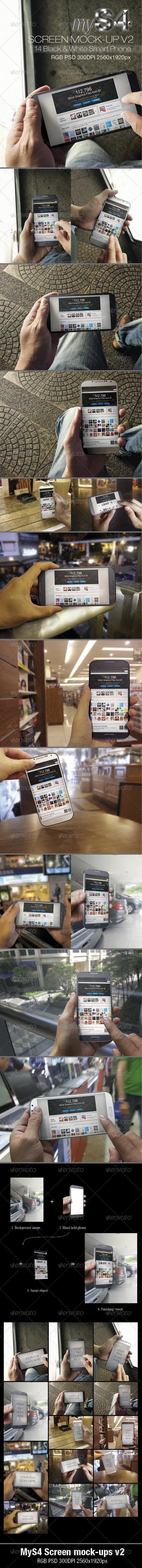 MyS4 Screen Mock-ups v2 - Mobile Displays