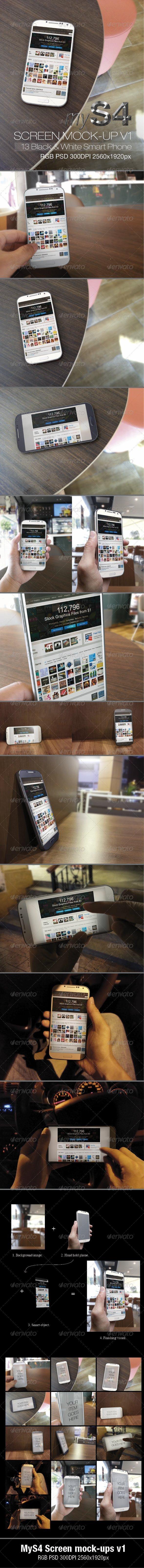 MyS4 screen mock-ups v1 - Mobile Displays