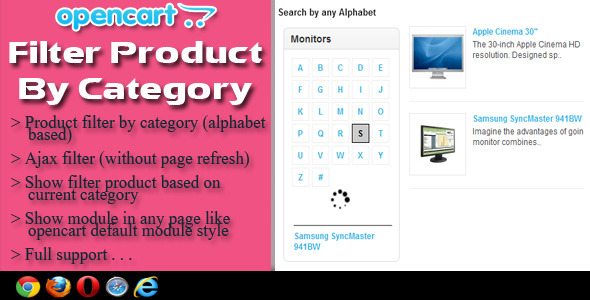OpenCart Filter Product By Category - CodeCanyon Item for Sale