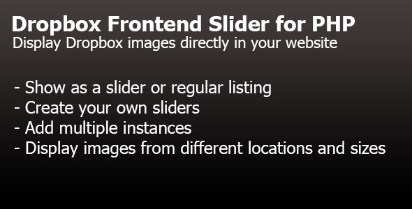 Dropbox Frontend Slider for PHP - CodeCanyon Item for Sale