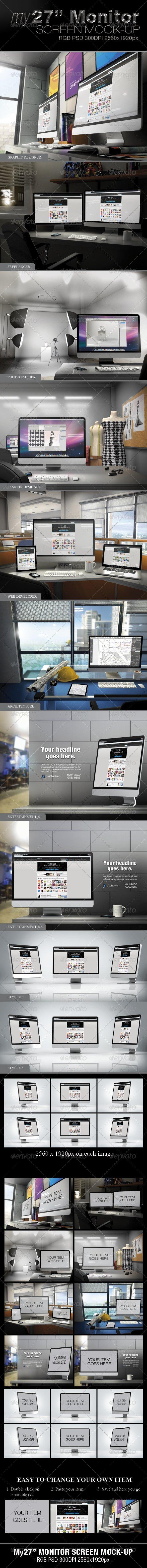 """My27"""" Monitor Screen Mock-Up - Monitors Displays"""