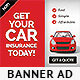 Cheap Car Insurance Web Banner Ad - GraphicRiver Item for Sale