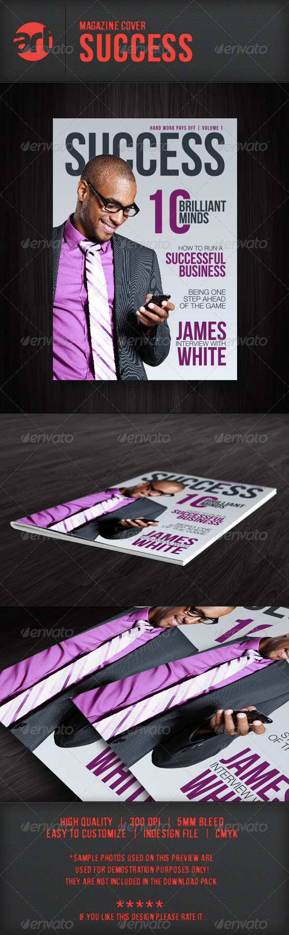 Mag Cover: Success - Magazines Print Templates