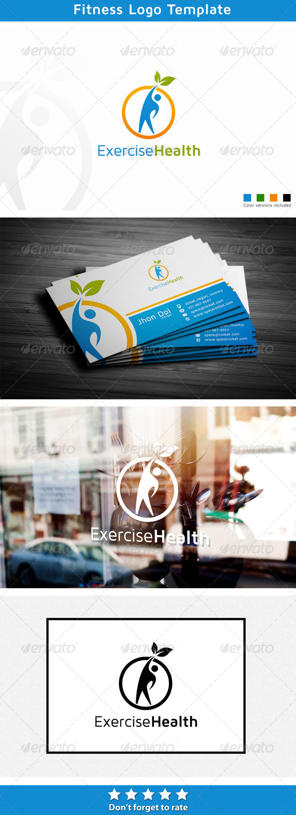 Fitness Consultant - Humans Logo Templates