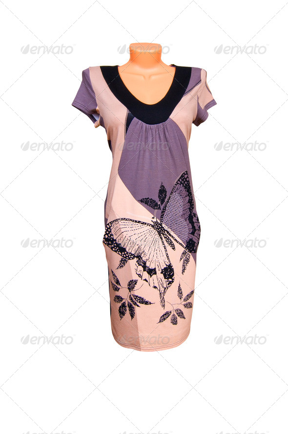 Nice dress on a white. - Stock Photo - Images