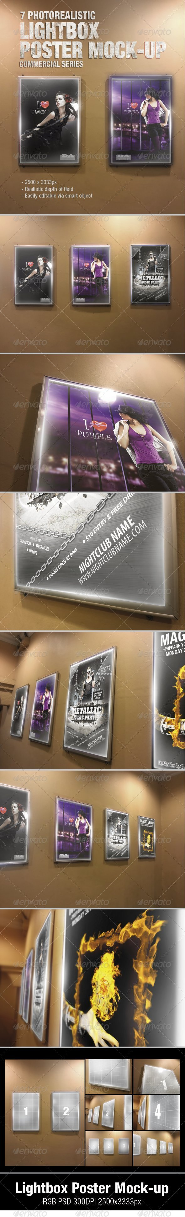 Lightbox Poster Mock-Ups - Posters Print