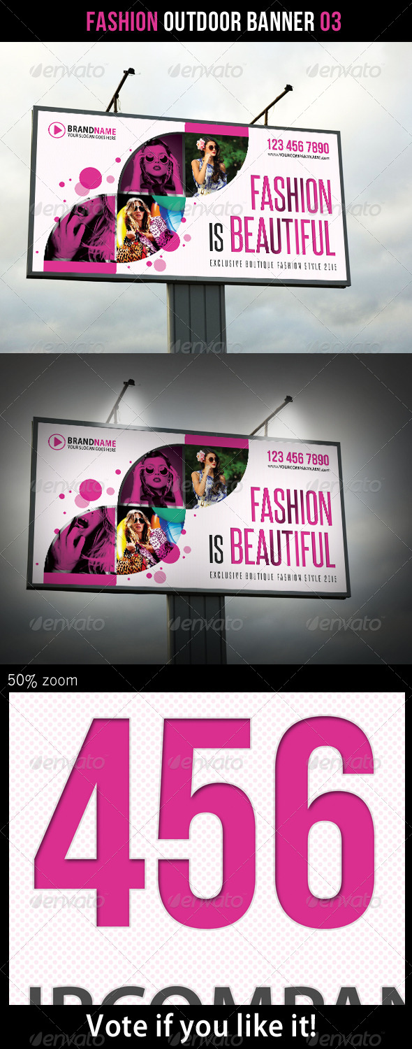 Fashion Outdoor Banner 03 - Signage Print Templates