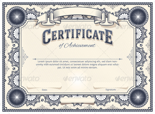 Certificate template by aivectors graphicriver certificate template decorative vectors yadclub Image collections