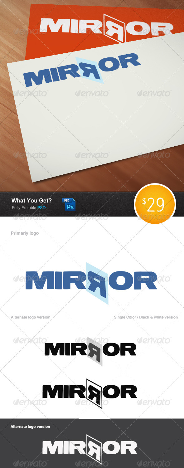 Mirror Logo Template - Objects Logo Templates
