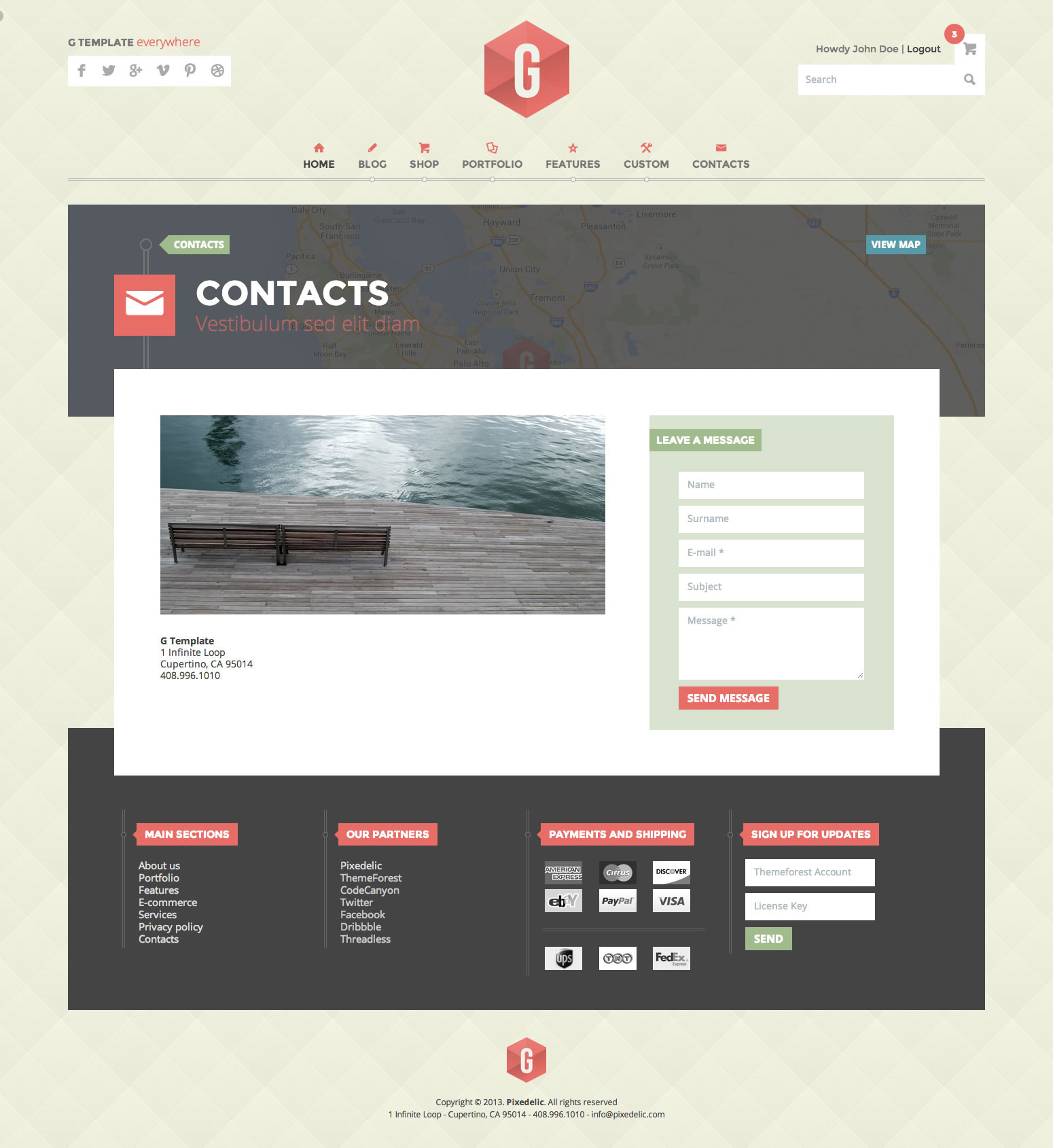 G - Multipurpose Responsive HTML5 Template by pixedelic | ThemeForest