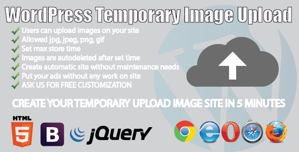 WP Temporary Image Upload - CodeCanyon Item for Sale
