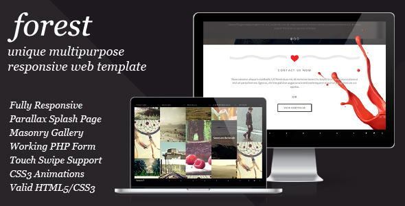 Forest – Unique Multipurpose Responsive Template