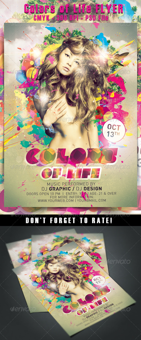 colors of life flyer by hdesign85 graphicriver