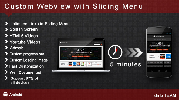 Custom WebView with Sliding Menu - CodeCanyon Item for Sale