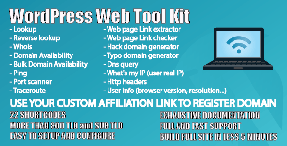 WP Web Tool Kit - CodeCanyon Item for Sale