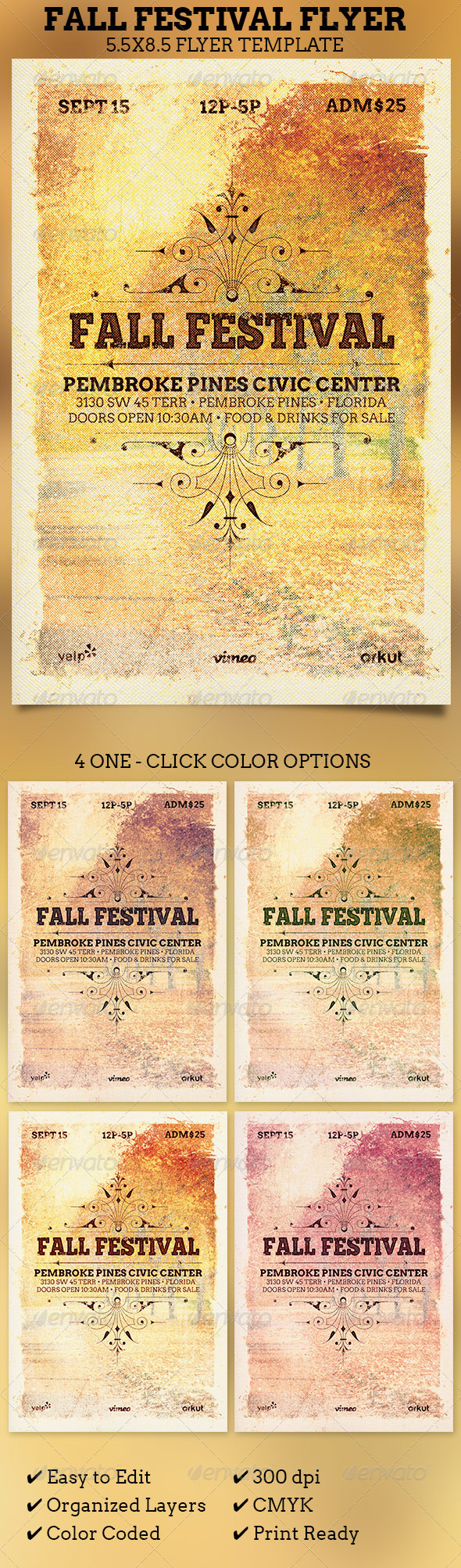 fall festival flyer template by 4cgraphic graphicriver