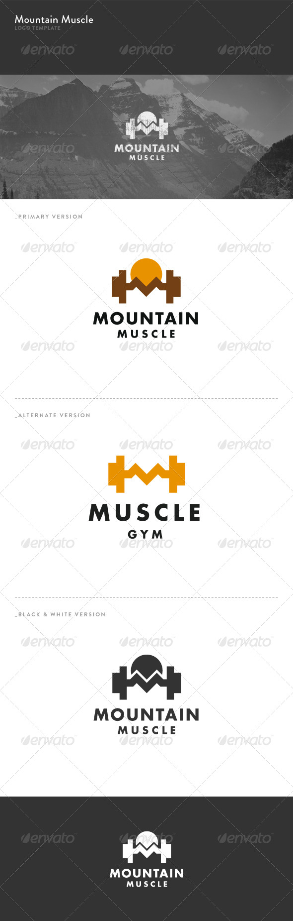 Mountain Muscle Logo