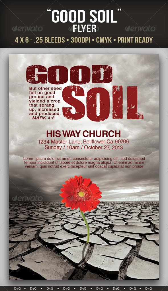Good Soil Flyer Template - Church Flyers