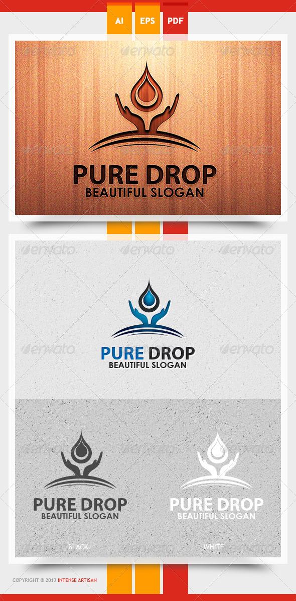 Pure Drop Logo Template