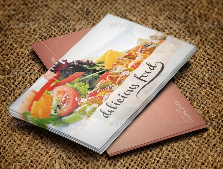 Delicious Food Business Card by HanifHaroon | GraphicRiver