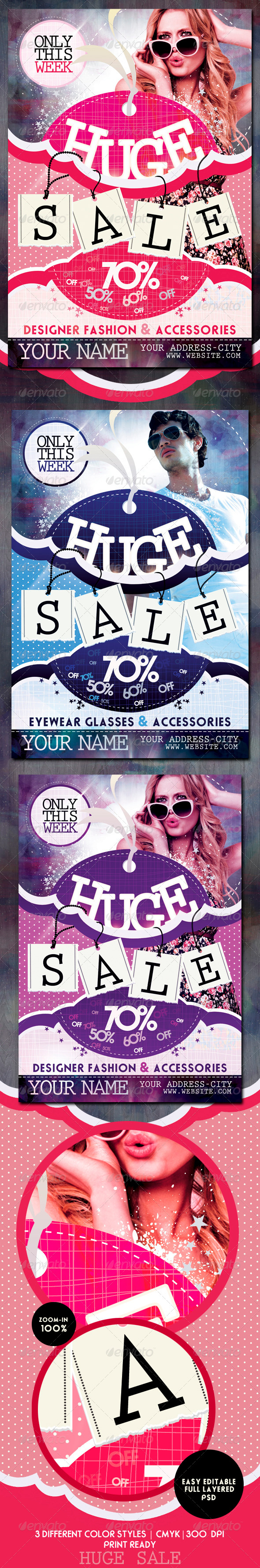 Sale / Promotion Flyer Template - Commerce Flyers