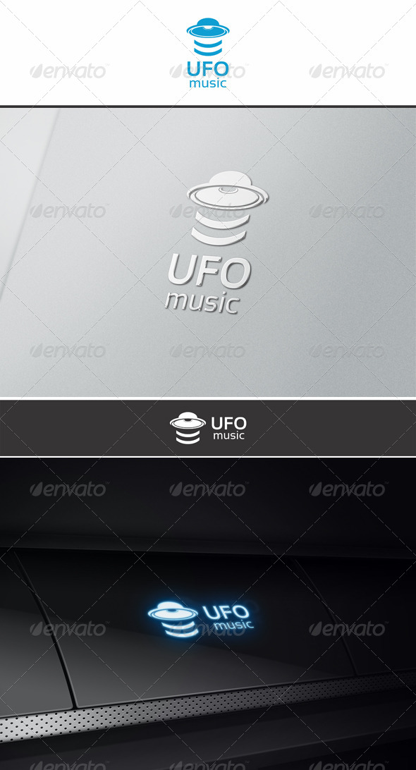 UFO music - Vector Abstract