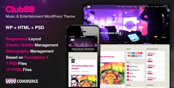 Club88 – Premium Music WordPress Theme