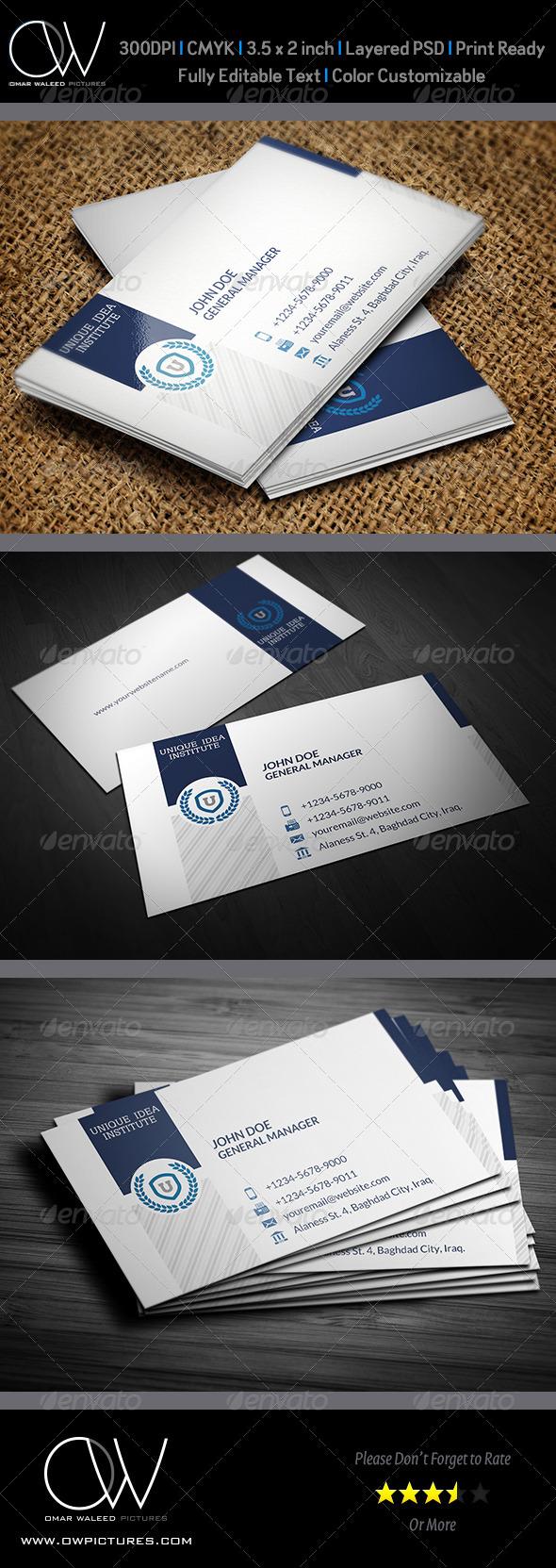 Corporate Business Card Vol.33 - Corporate Business Cards