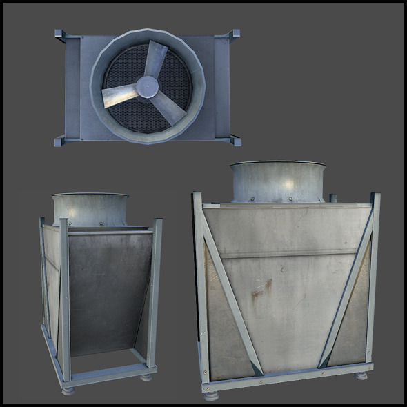 Building Ventilation - 3DOcean Item for Sale