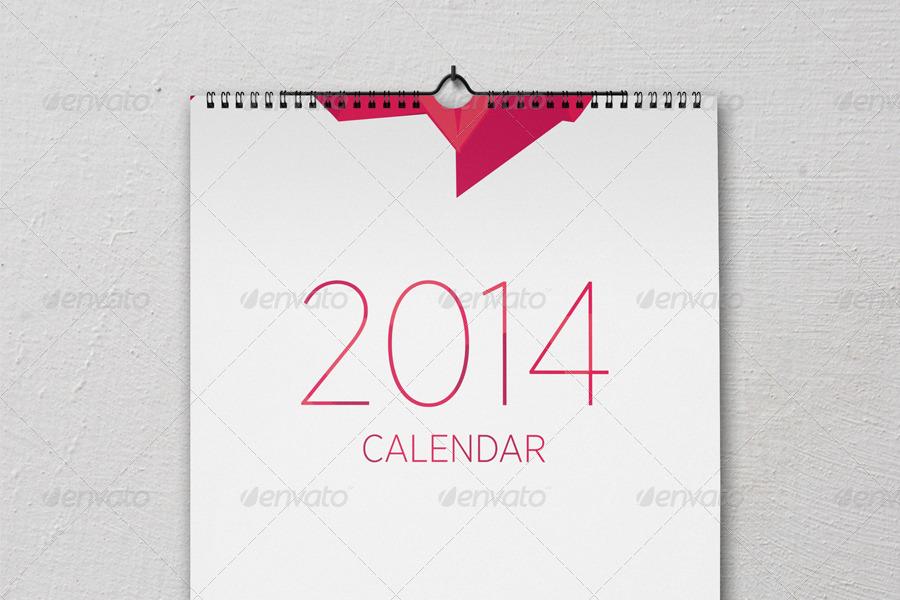 Wall calendar mock-up set by ejanas   GraphicRiver