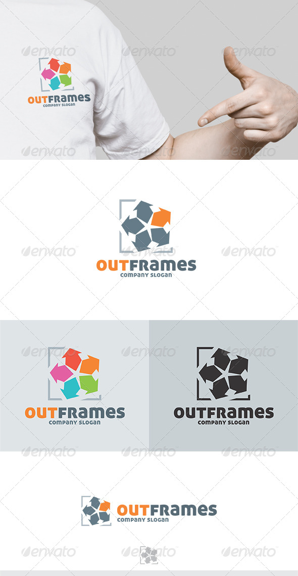 Out Frames Logo by Kapacyko | GraphicRiver