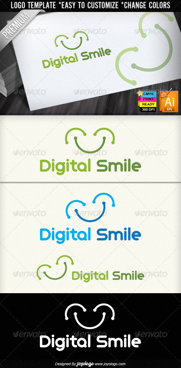Digital Smile Logo Design - Symbols Logo Templates