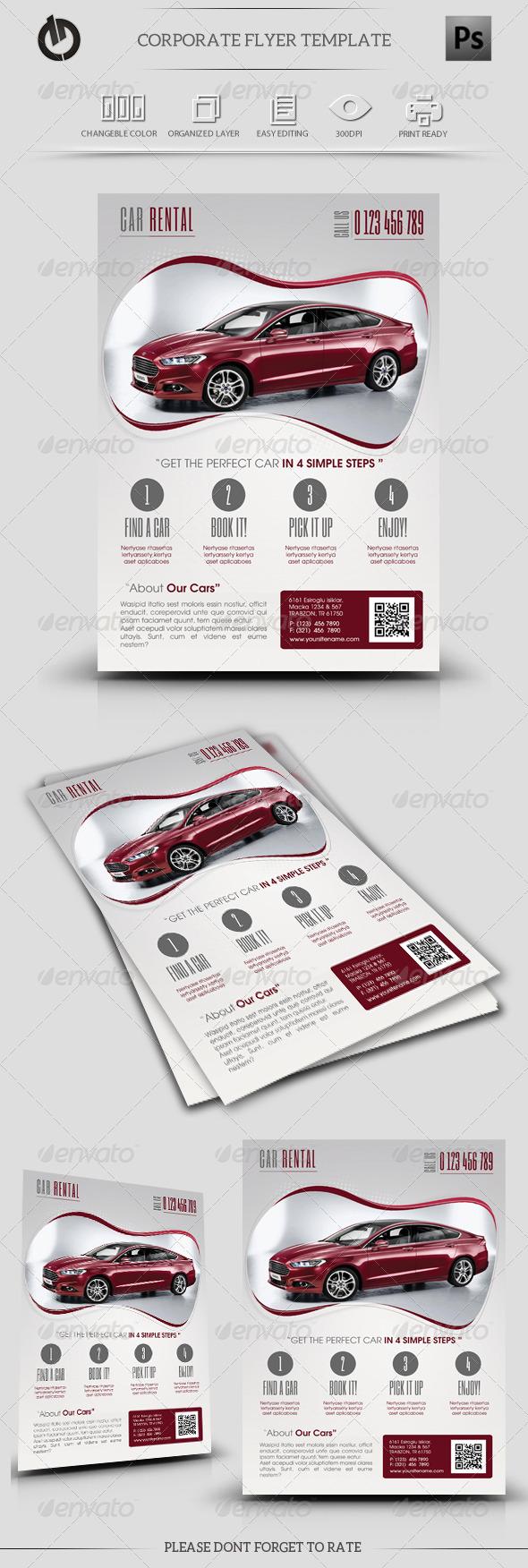 Car Rental Flyer Template  - Corporate Flyers