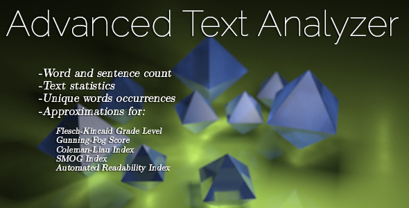 Advanced Text Analyzer - CodeCanyon Item for Sale