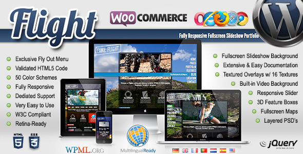Flight – Responsive Fullscreen Background Theme