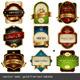 Gold-Framed Labels - GraphicRiver Item for Sale