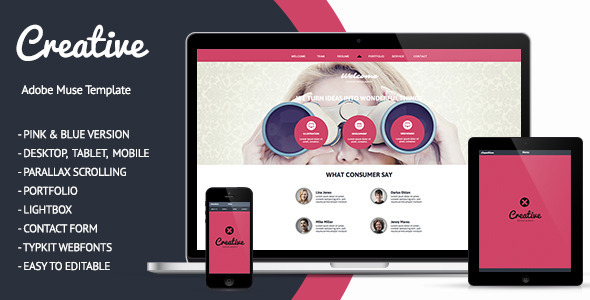 Creative – One Page Muse Theme