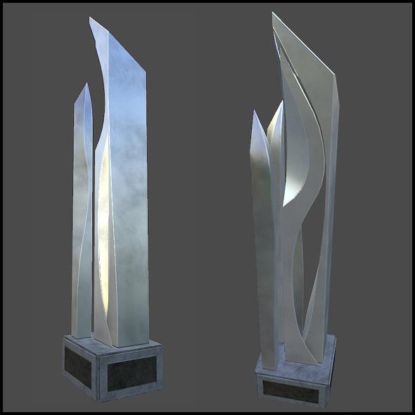 Metal Art Pillar - 3DOcean Item for Sale