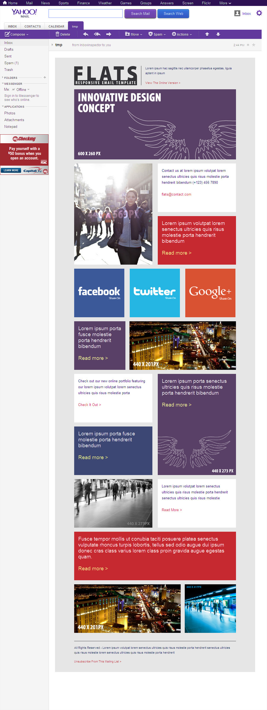 27 General Flat Email Templates - Dark / Light by robbiewilliams ...