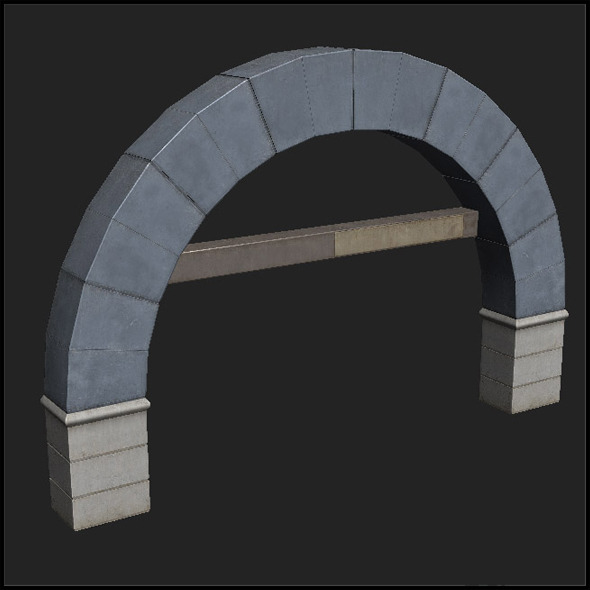 Concrete Arch - 3DOcean Item for Sale