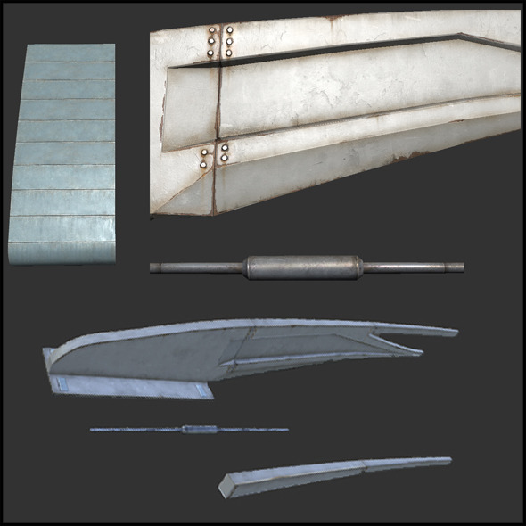 Roof Structure Elements - 3DOcean Item for Sale