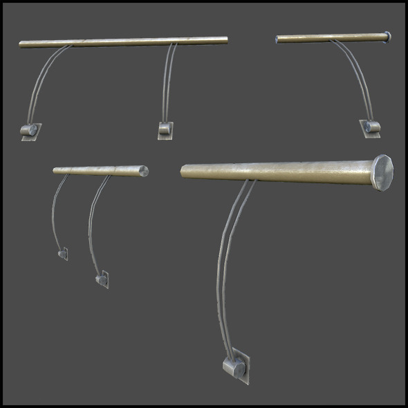 Hand Railing - 3DOcean Item for Sale