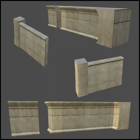Rotunda Wall Set - 3DOcean Item for Sale