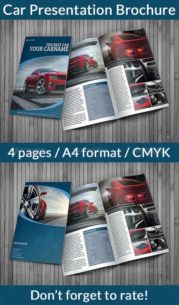 Car Presentation Brochure - Print Templates