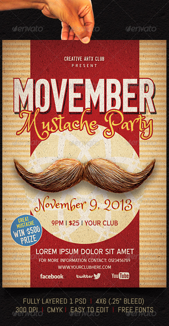 Movember - Events Flyers