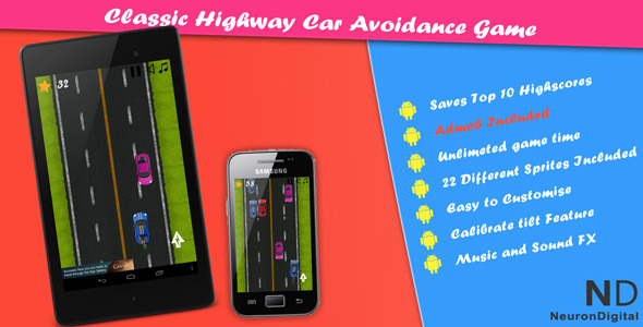 Classic Highway Car Avoidance Game - CodeCanyon Item for Sale